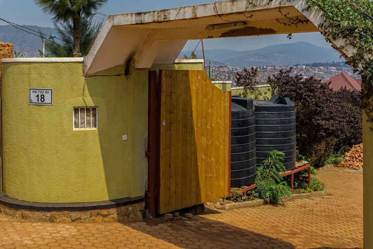 The entrance to a hotel in Kigali Entrance Holiday Kigali Rwanda Taking Photos Africa Hotel Vacation