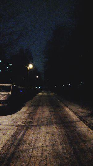 Vanishing Point Darck Night Way