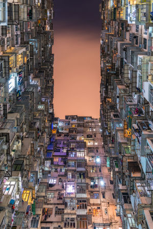 Overcrowded residential buildings at night in Hong Kong Angle Apartment Buildings Architecture Building Exterior Buildings Cityscape Condominium Croweded Density Downtown Flat High Life Living Night Old Poverty Property Residence Residential  Transformer Travel Urban View Windows First Eyeem Photo