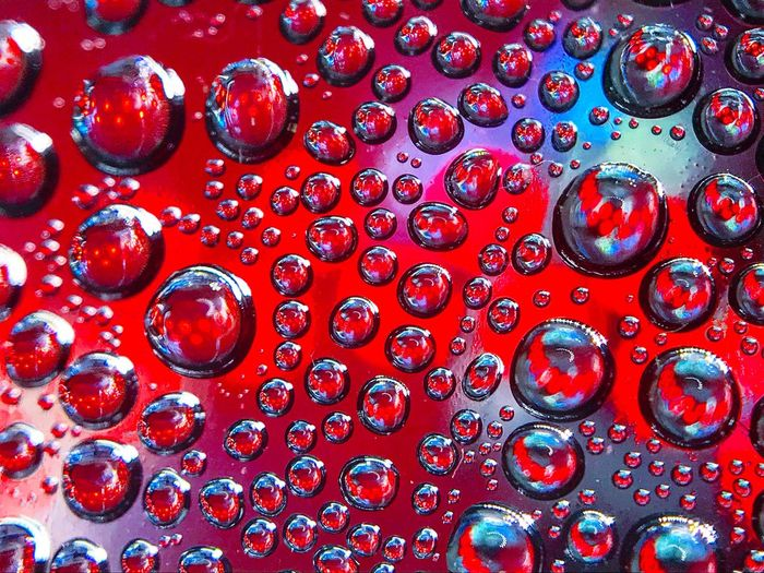 Red Backgrounds Close-up SuperMacro Dew Drops Dew Bubbles Contrast Contrasting Colors Crazycolor Underwater Waterdrops Macro Beauty Macro Photography Macro Art Is Everywhere