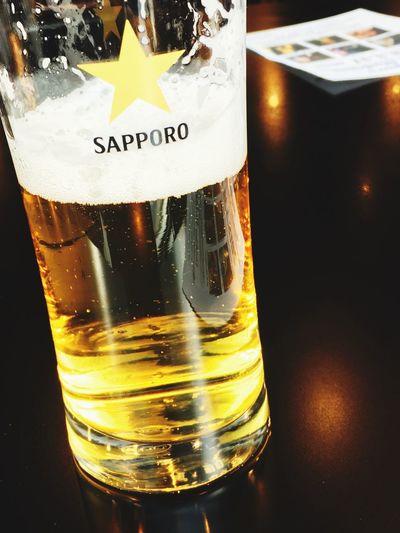 めちゃ寒いけどビールでジャズライブ Live Jazz Music Alcohol Drink Refreshment Drinking Glass Food And Drink Close-up Beer - Alcohol Beer Glass Beer