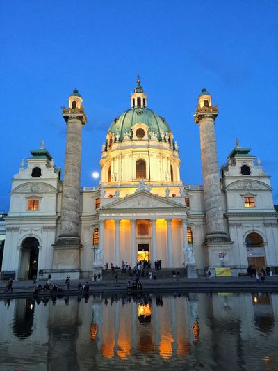 Karlskirche Vienna Wien Church Colors Moon Beautiful Taking Photos Enjoying Life Holy