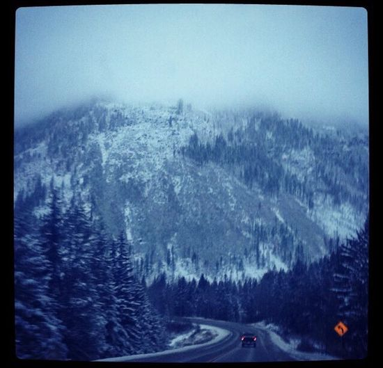 Beautiful mountain on a road trip. Snow Cold Temperature Mountain Winter Road Road Trip Beauty In Nature Forest EyeEmNewHere Nature Scenics Mountain Range Kootenays