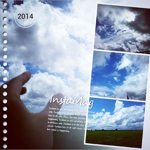 InstaMagAndroid Sky Blue Cloud HaiPhong Vietnam Quockhanh 2014 taken by me