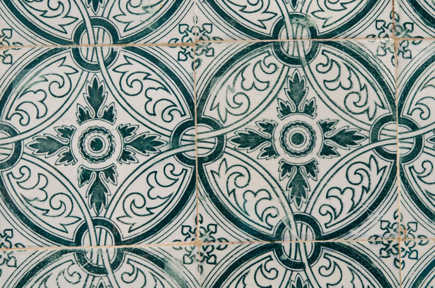 typical portuguese tiles Portugal Architectural Feature Architecture Backgrounds Close-up Day Decorative Art Design Floral Pattern Full Frame Indoors  No People Ornate Pattern Sights Tile Tiled Wall Tiles Tiles Textures Typical Portuguese Architecture Typical Houses Wallpaper