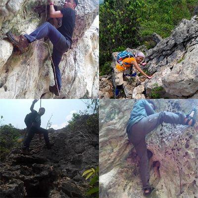 Banyak orang terinspirasi untuk mendaki Gunung-gunung besar yang menjulang tinggi dengan gagahnya... Tapi siapa sangka kalo gunung kecil bisa jadi lebih judes di banding gunung yang besar... Mountain Climbing Rock Adventure Chalenge Visitindonesia Travelingindonesia Gunung Pendaki Mdpl Puncak  Jalanjalan