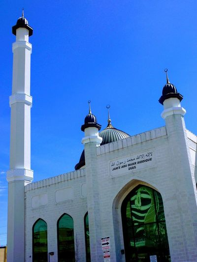 Masjid Religion Architecture Low Angle View Travel Destinations Outdoors Clear Sky No People Building Exterior Sky Day Close-up Architecture ISLAM♥ Abubakr Masjid Toronto