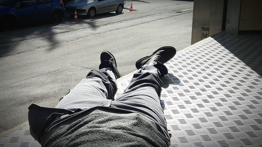 Enjoy the sun Low SectionHuman Body Part Human Leg Lifestyles Limb Personal Perspective One Person Real People Only Men Adults Only Outdoors One Man Only Adult People Day Work In Sun WorkTime!👊