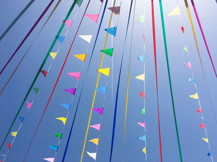 Winner Color Flag Multi Colored No People Day Nature Decoration Outdoors Low Angle View Sunlight Sport Celebration Sky