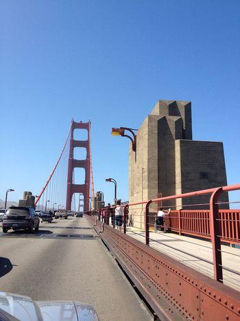 USA Street San Francisco Frisco Golden Gate Bridge Cars Road Bridge Sea And Sky Water Sunny Amazing Building Nofilter Architecture