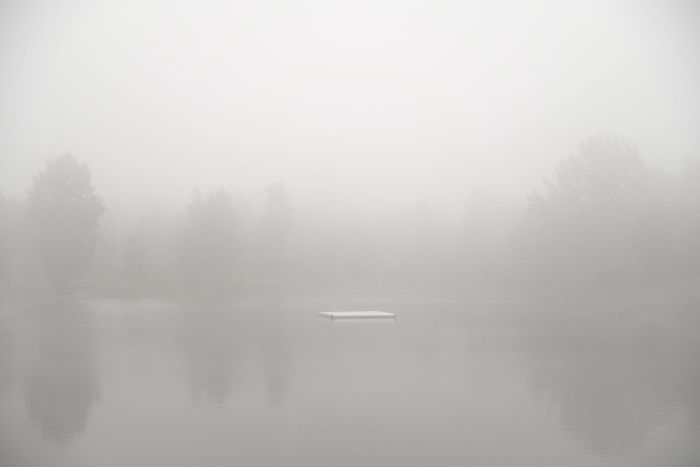 Almost white. Fog Reflection Tranquil Scene Nature Beauty In Nature Scenics Tranquility Outdoors No People Lake Silence Water Tree Landscape Sky Day Mist Sweden Nature Pentax Serenity Breathing Space Uncultivated