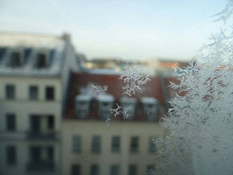 Icy Window Winter Ice Gelo Olhar Pela Janela