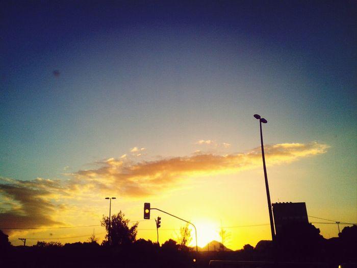 Por do sol altura da prefeitura de Cariacica