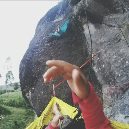 hammocking!! + Climb + Climbing + Hammock + Hammocking + Rock + Enjoy + Life + Lifestyle + Batutumpang + Garut + Indonesia One Person Holding Human Hand People Day Spraying Adult Outdoors EyeEm Ready   EyeEmNewHere