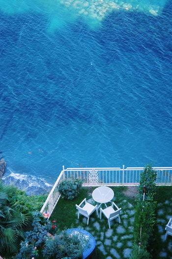 Blue Sea Mare Mare ❤ Napoli Napoli ❤ Architecture Beauty In Nature Blue Day Growth High Angle View Landscape Nature No People Outdoors Photo Photography Photooftheday Plant Sea Sea And Sky Swimming Pool Tranquility Tree Water EyeEmNewHere