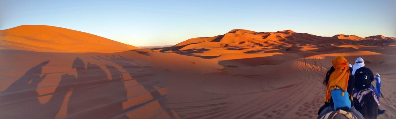 Sand Dune Desert Adventure Arid Climate Sand Sunset Full Length Clear Sky