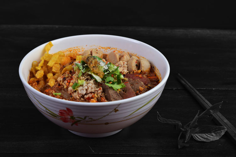 Spicy Thai Noodles Spicy Thai Noodles Noodles Pork Stir-Fried Pork Noodle Soup Tomyum Noodle Lemon Tom Yum Yellow