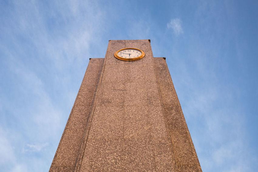 Clock Tower - bangtabun Thailand Backgrounds Blown Blue Sky Clear Sky Clock Clock And Sky Clock Tower Clocktower Long Time Waiting Feature Street Abstract Time Morning Life