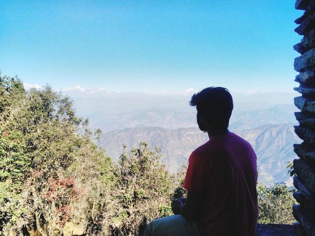 Landscape Mountain Nature Tree One Person Himalayas TrekkingDay Binsar Forest Almorahills