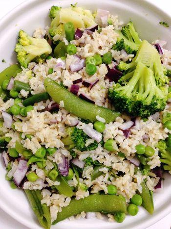 Rice Broccoli Peas Vegetables POV Dinner Vegan Food Vegetarian Food 365 Photos In 2015
