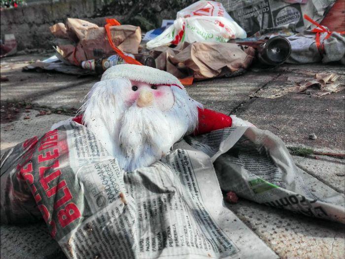 Santa #Santa #garbage #trash #TrashFullOfShit #christmastime EyeEm Selects Market Retail  For Sale No People Day Outdoors