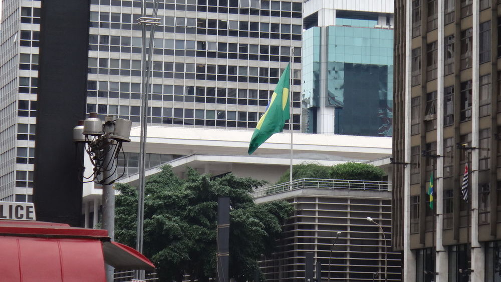 PAULISTA AVENUE SAO PAULO BRAZIL 2016 Architecture Building Building Exterior Built Structure City City Life Day EyeEm Team Lifestyles Low Angle View Modern Office Building Outdoors Pole Residential Building Sky