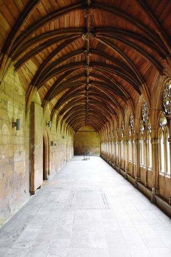 Arch Architecture Indoors  Corridor Built Structure No People Day Church Lincoln