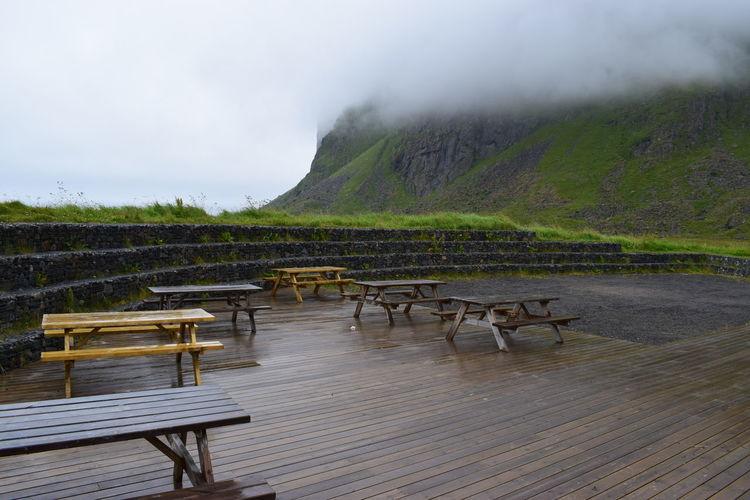 Cloud Day Deutsche Foog Lofoten Norway Mauer Nature Nebel No People Outdoors Radarstation Table Troll Fjorden Wall