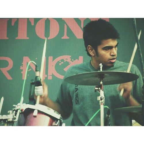 My brother, the drummer. Leaftone Vscocam