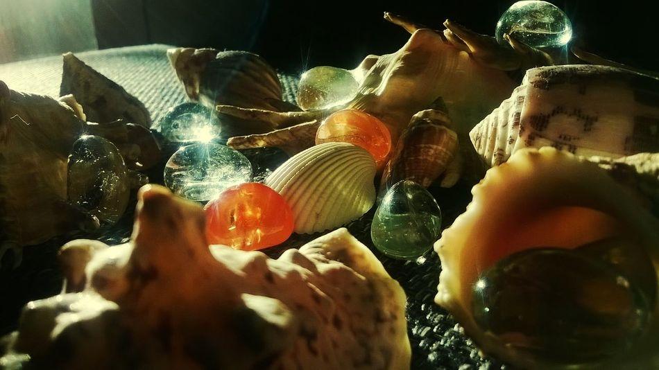 Sea Shells Glass Stones Open Edit Sunset Feeling Creative Light And Shadow EyeEm Best Shots Single Light Source