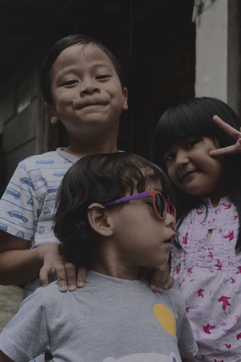 ND Filter + CPL Filter + Flash, fxxx up and wierd pictures but at least one of kiddos got good expression n style, this shot really making me laugh Bandung Shooter Indonesian Shooter Childhood Child Family Females Togetherness Real People Women Girls Sibling Bonding Lifestyles Portrait Leisure Activity Sister Boys Males  Casual Clothing Men Innocence Positive Emotion Moments Of Happiness 2018 In One Photograph My Best Photo