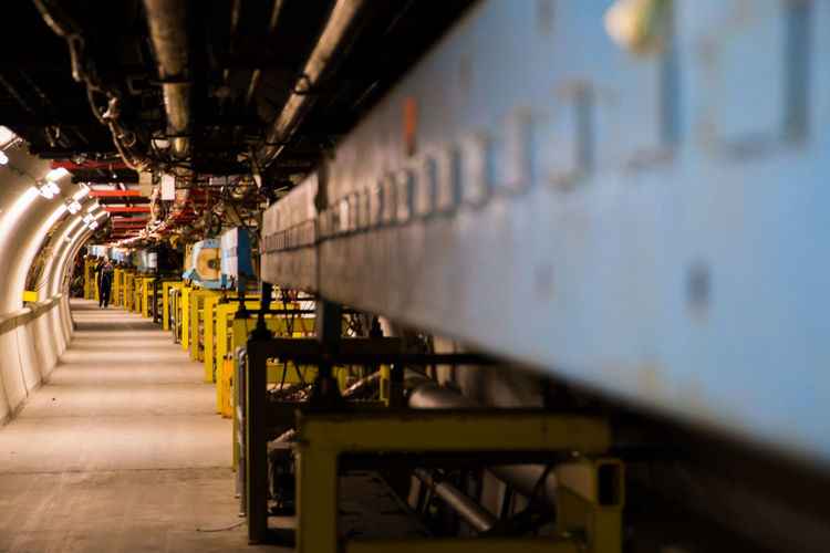 A rare look inside Fermilab's Tevatron, a giant, underground accelerator no longer in use. Accelerator Batavia Batavia, Illinois Fermi National Accelerator Laboratory Fermilab Particle Physics Particles Tevatron Colour Of Life