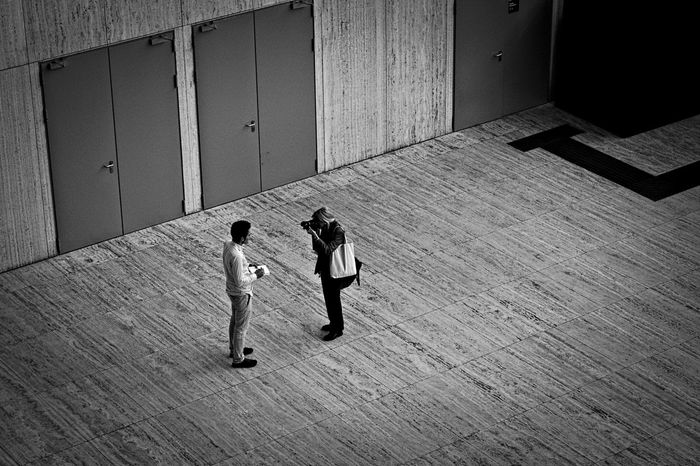 Architecture Boys Built Structure Childhood Day Friendship Full Length High Angle View Indoors  People Real People Rear View Togetherness Two People Women Business Stories Stories From The City Focus On The Story The Street Photographer - 2018 EyeEm Awards Urban Fashion Jungle Human Connection