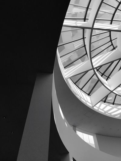 Circles In Circles Graphic Pattern Black And White Sky Rotunda Built Structure Architecture No People Low Angle View