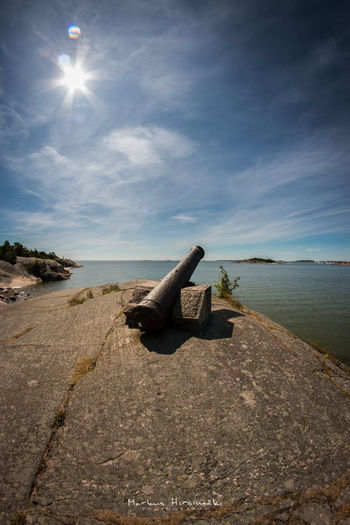 """""""The Defense"""" Outdoors Old Cannon Historic Historical Weapon Weapons Of War Landscape Finland Hanko Hanko Finland"""