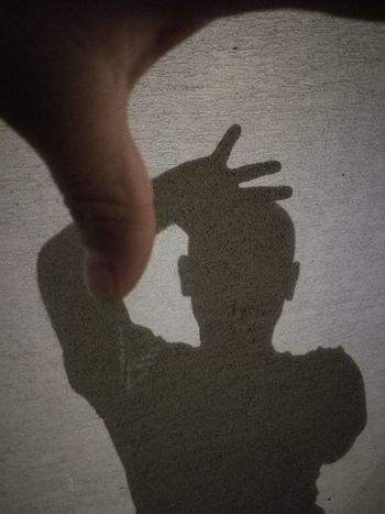 Human Hand Men Shadow Togetherness Silhouette Close-up