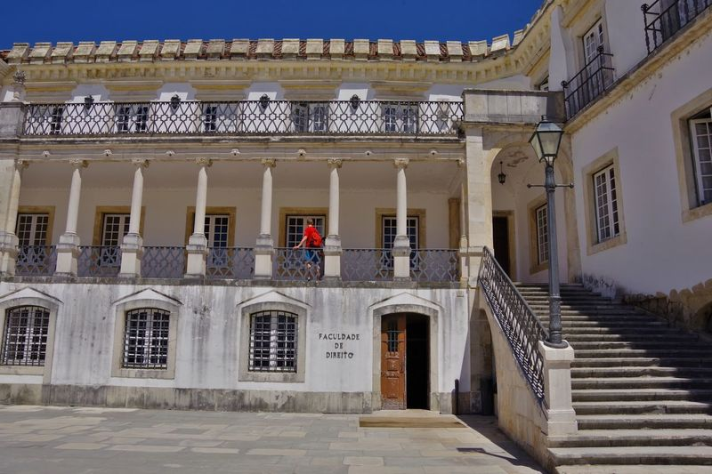 Architecture Coimbra Coimbra University Portugal Tourist Attraction  Travel Photography World Heritage Site By UNESCO World Heritage Site World Heritage Architecture Balcony Building Exterior Built Structure Columns Faculty Of Law Staircase Steps Steps And Staircases Tourist Destination Travel Destination Travel Destinations Windows