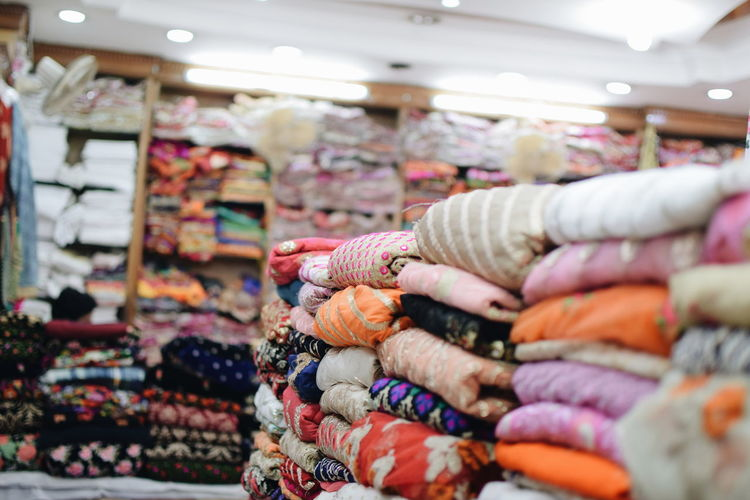 InMakin! Shopping ♡ Randomness Fabric Textile Clothing Clothes Colourful Retail  For Sale Multi Colored Business Finance And Industry Consumerism Choice Market Variation Business Indoors  Close-up No People Abundance In A Row Stack Large Group Of Objects