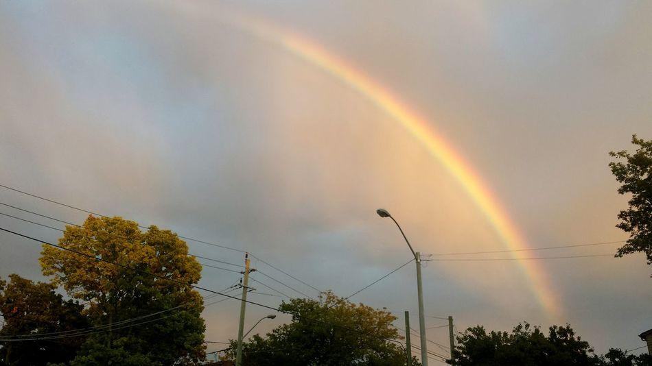 Rainbow Sky Rainbow Sunset And Rainbow Sky And Clouds Street Colors