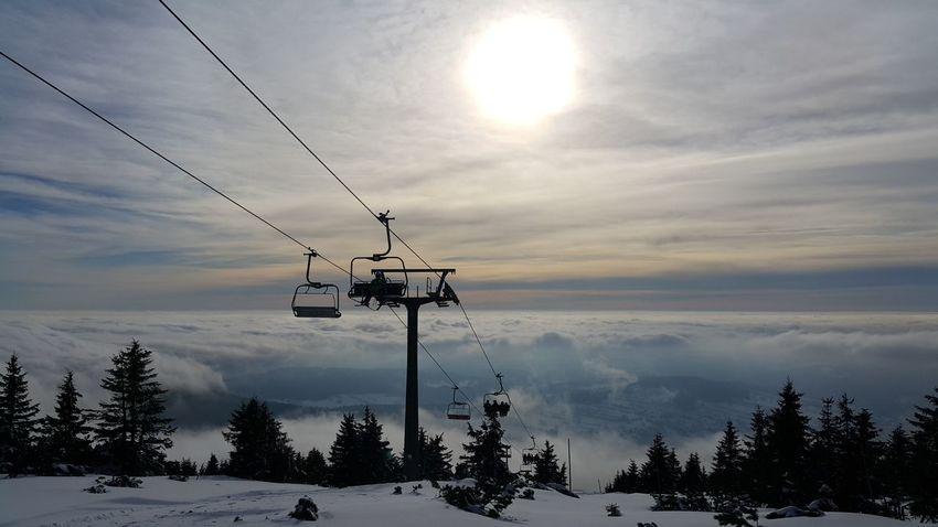 Relaxing Skiing