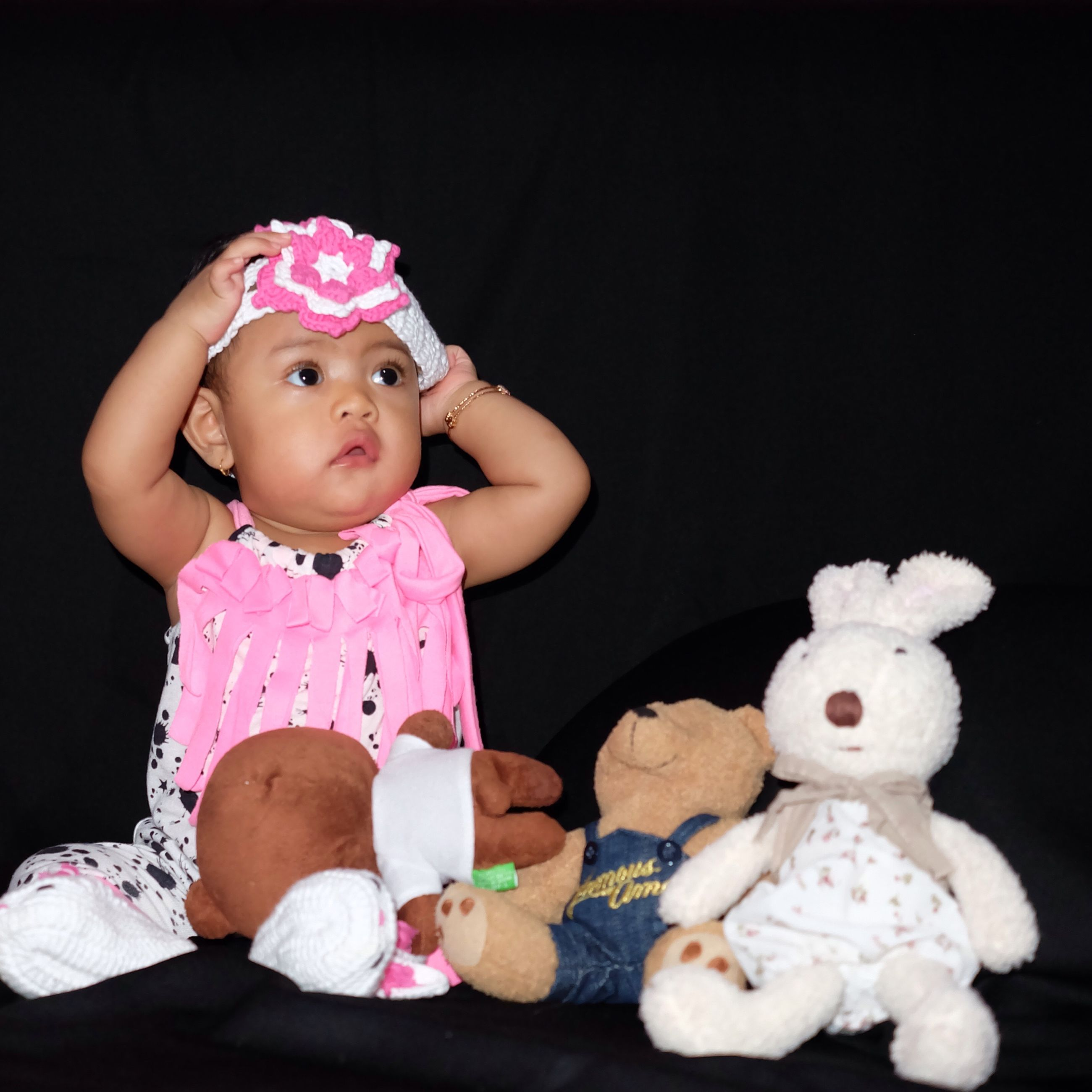childhood, elementary age, cute, toy, innocence, indoors, girls, person, boys, babyhood, baby, stuffed toy, toddler, animal representation, front view, playful, portrait, looking at camera
