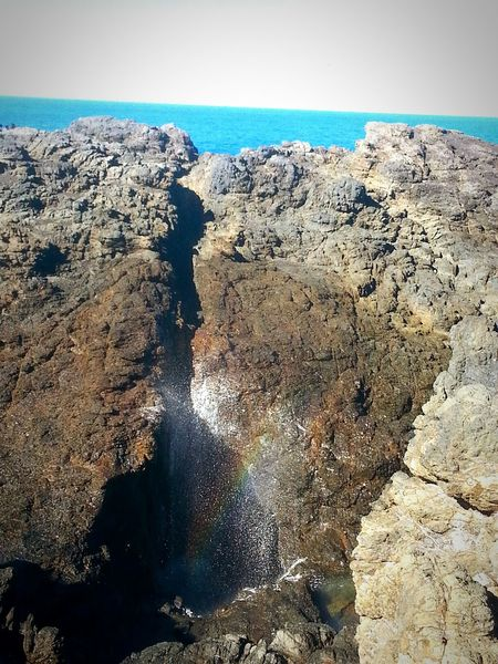 Kiama  New South Wales, Australia Sea Beach Water Nature Rainbow🌈 Raimbowbloom Rainbow Rocks And Water Rocks