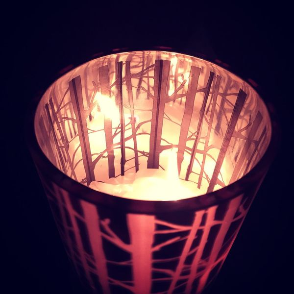 Candle Candlelight WoodLand Reflection Cosy Indoors  No People Home Tealights