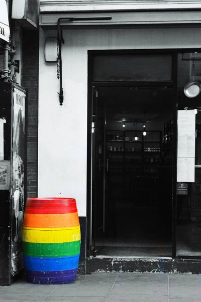 Gay Pride Barrel in Soho Street Photography Streetphotography Street Streetphoto_bw Splash Of Colour Splash Of Colors Rainbow Rainbow Colors Barrel Barrels Gaypride Gay Pride Lgbt Lgbt Pride LGBT Rainbows EyeEm Selects