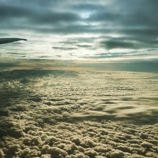 High feelings Cloud - Sky Airplane Day Airplane Wing Nature Dramatic Sky Beauty In Nature
