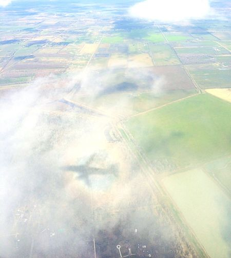 The Journey Is The Destination Plane View Plane Shadow Rainbow Plane Shadow Clouds And Sky On The Way