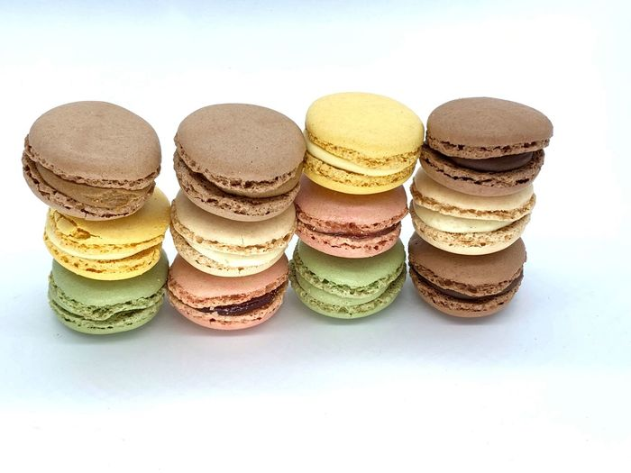 Macaroons Macaroon Still Life Indoors  White Background No People Food And Drink Freshness Ready-to-eat Food Stack Sweet Food Indulgence Macaroon Side By Side Choice Dessert Studio Shot In A Row Close-up Sweet Variation EyeEmNewHere