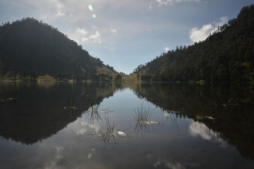 INDONESIA Malang Beauty In Nature Beauty In Nature Gunung Semeru Jawa Timur Lake Mountain Nature Outdoors Ranukumbolo Reflection Semeru Semeru Mountain Sunrise Water