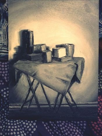 Still Life Grey Scale Oils