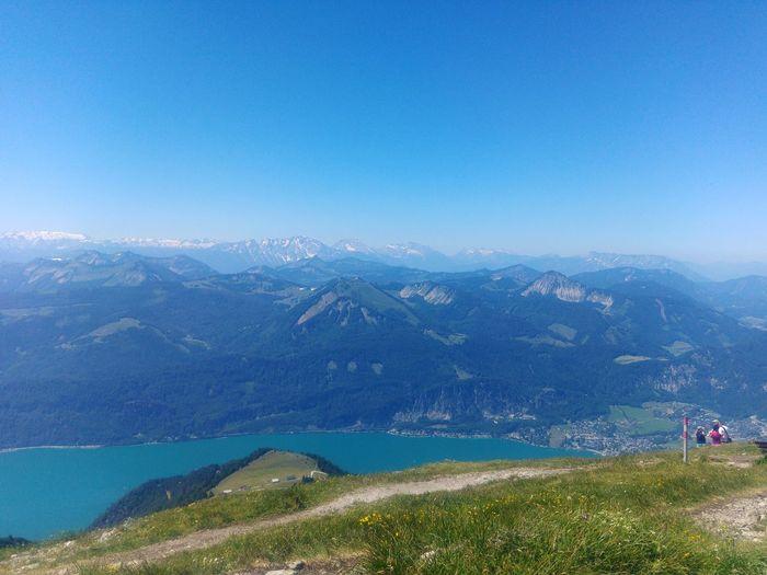 Blue sky, alps